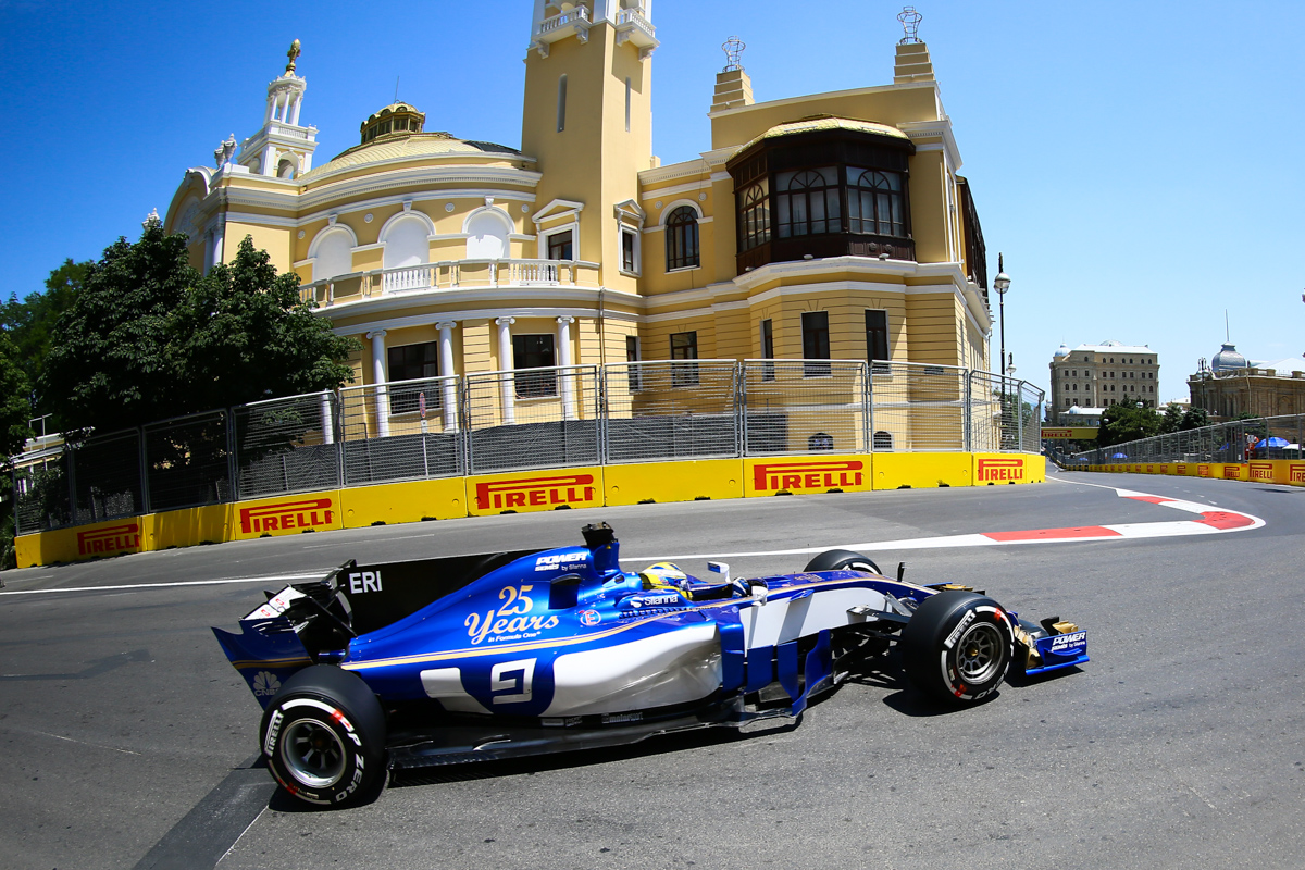 Sweden Formula One driver Marcus Ericsson of Sauber F1 Team in action during the first practice session of the Formula One Grand Prix of Azerbaijan at the Baku City Circuit, in Baku, Azerbaijan 23 June 2017. The 2017 Formula One Grand Prix of Azerbaijan will take place on 25 June.