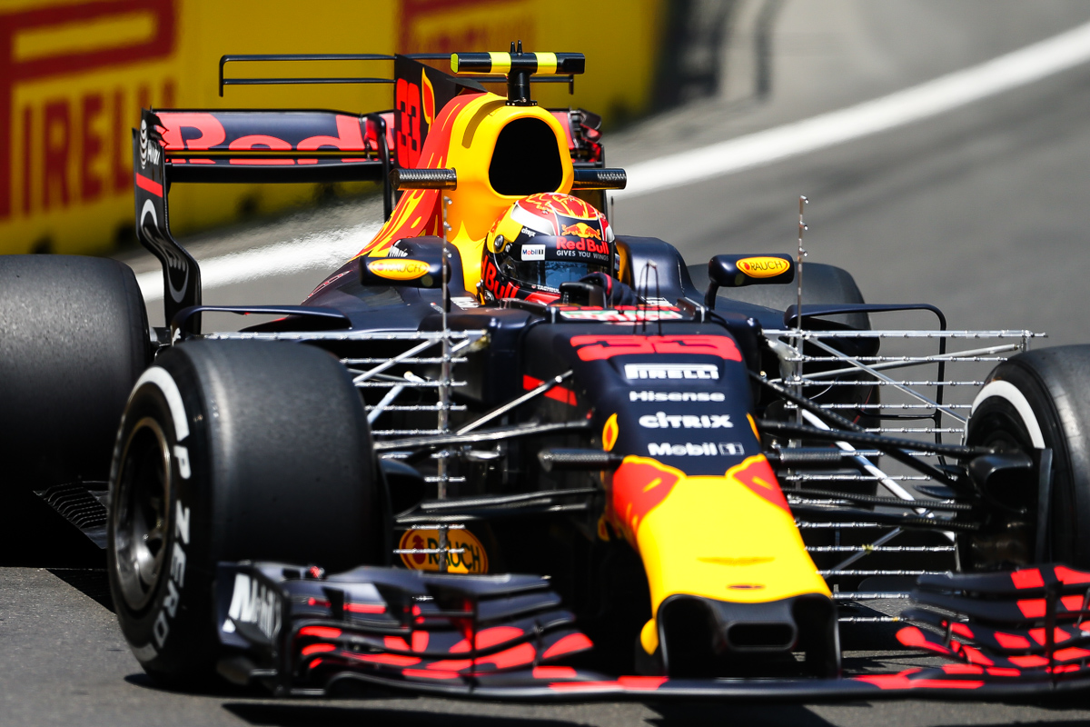 Holland Formula One driver Max Verstappen of Red Bull Racing F1 Team in action during the first practice session of the Formula One Grand Prix of Azerbaijan at the Baku City Circuit, in Baku, Azerbaijan 23 June 2017. The 2017 Formula One Grand Prix of Azerbaijan will take place on 25 June.