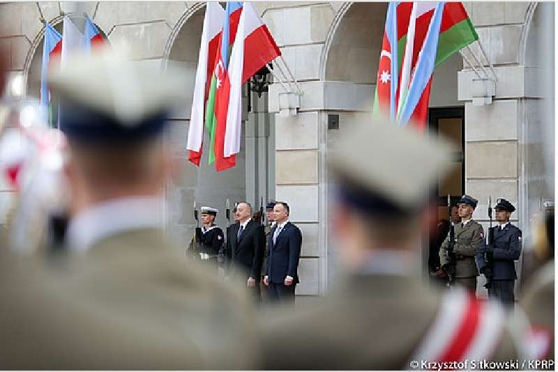 Azerbaijani President Ilham Aliyev is paying an official visit to Warsaw