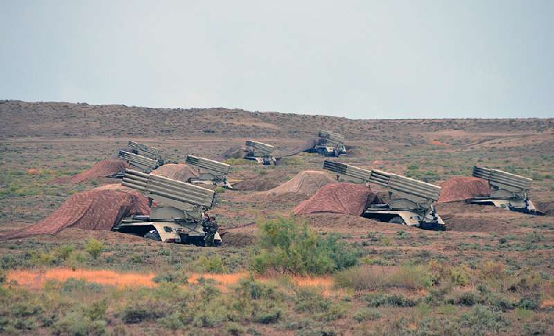 The exercises of rocket and artillery formations of the Armed Forces of Azerbaijan