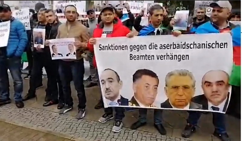 Protest Rally In Front Of The Azerbaijani Embassy In Berlin